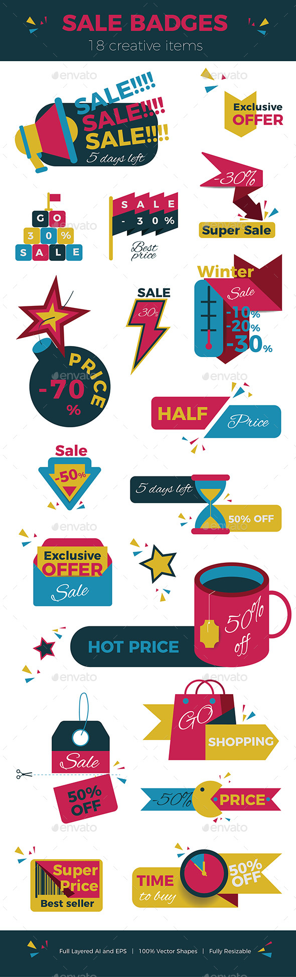 GraphicRiver Creative Sale Badges 20745725