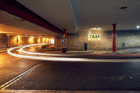 Taxi stand sign - Stock Photo - Images