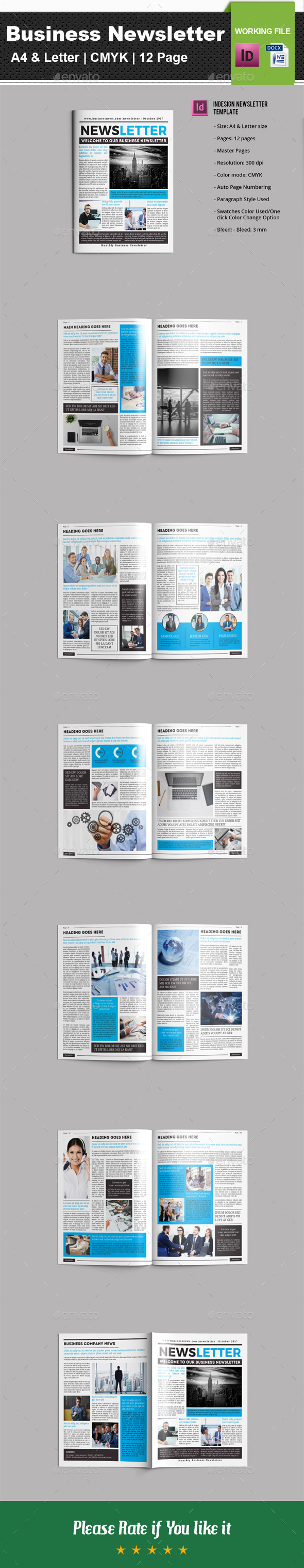 Business Newsletter V01 - Newsletters Print Templates