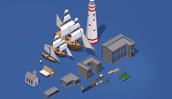 3DOcean Low Poly Pack object 20745919