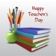 Teachers Day Vector Card