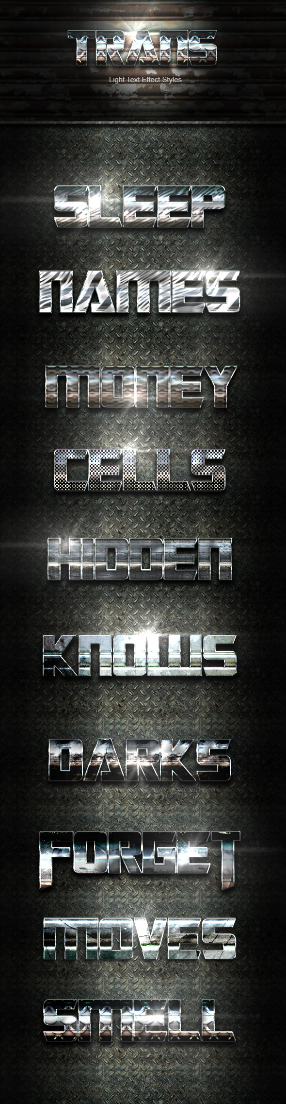 GraphicRiver Trans Steel Text Effect V01 20746127