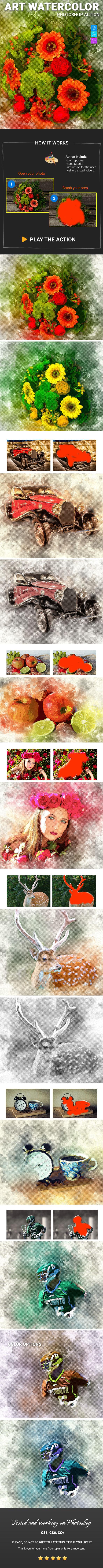 GraphicRiver Art Watercolor Photoshop Action 20746201