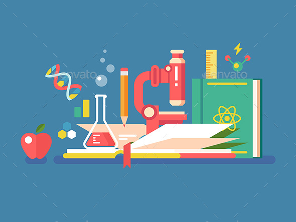 GraphicRiver Science Tools for Education 20746342