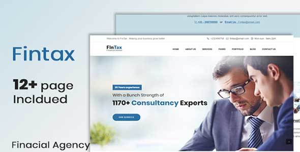 Fintax-Multipurpose Financial template