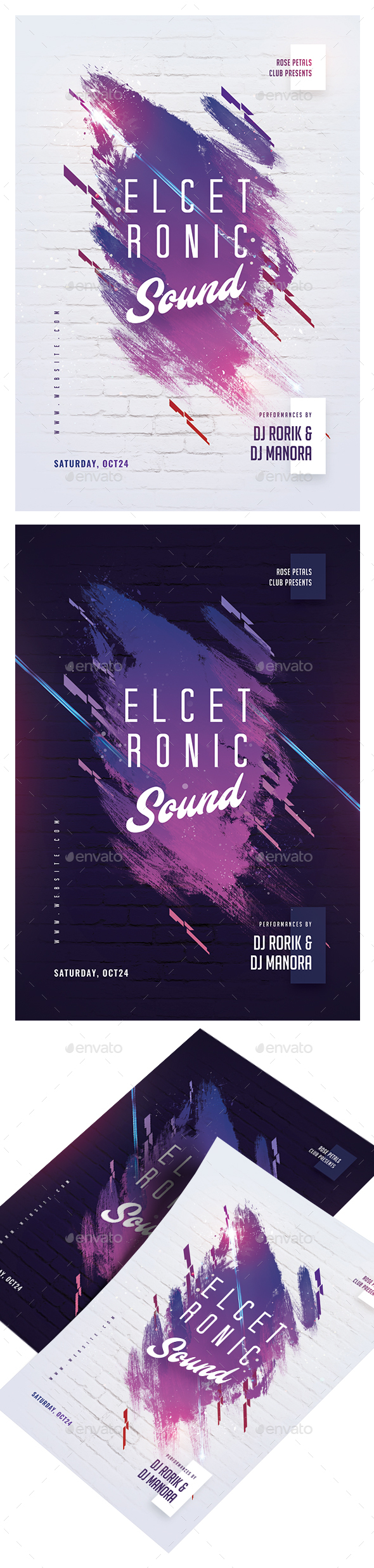 Electronic Sound Party Flyer - Clubs & Parties Events