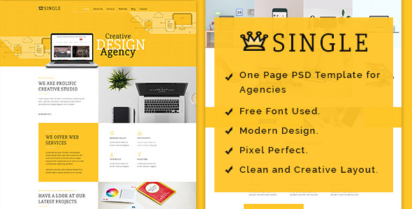 Single - One Page PSD Template