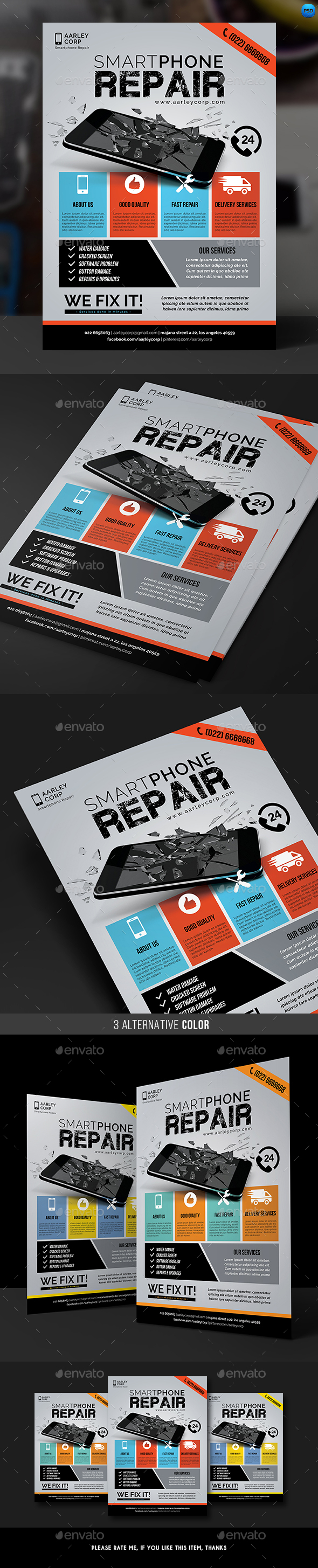 GraphicRiver Smartphone Repair Flyer 20749741