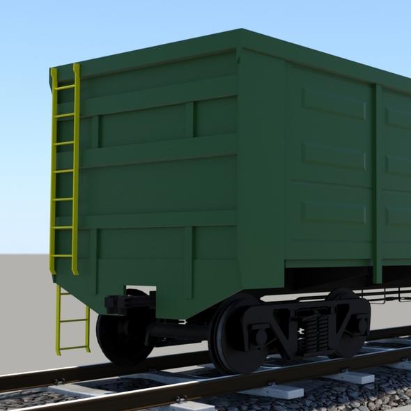 3DOcean wagon mid-poly 20749818