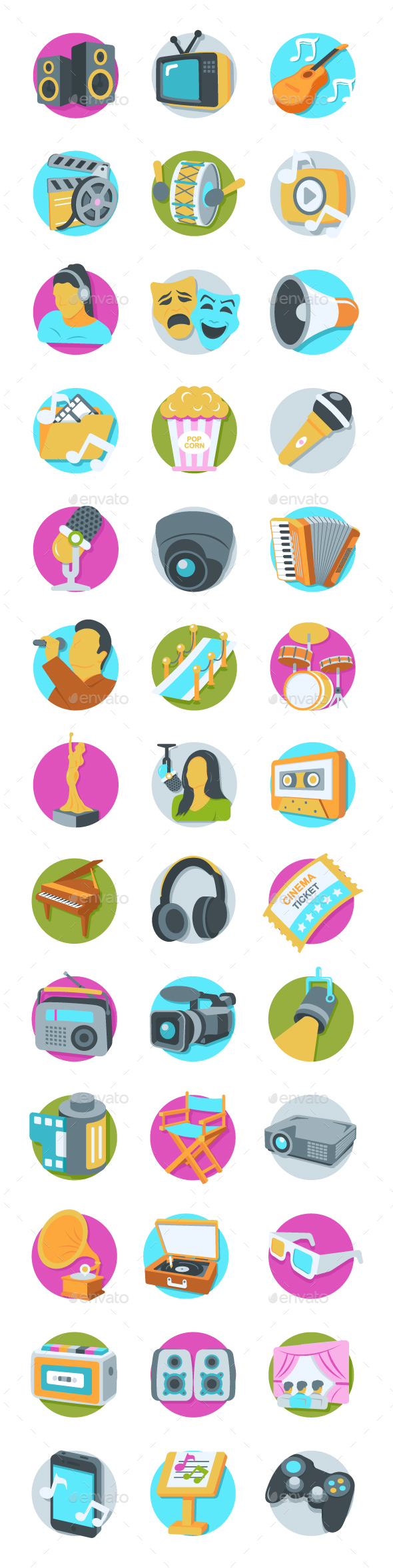 GraphicRiver 41 Multimedia Icons 20749930