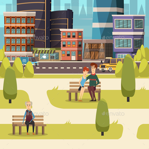 GraphicRiver City Landscape Orthogonal Background 20749945
