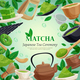 Matcha Tea Ceremony Background Poster