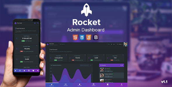 Rocket - Responsive Admin Dashboard