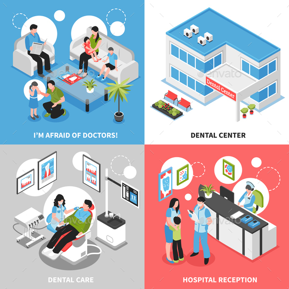 GraphicRiver Dental Center 2x2 Isometric Design Concept 20750002