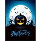 Halloween Theme with Jack O Lantern on Cemetery