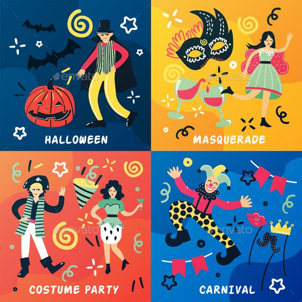 GraphicRiver Carnival Doodle Design Concept 20750022