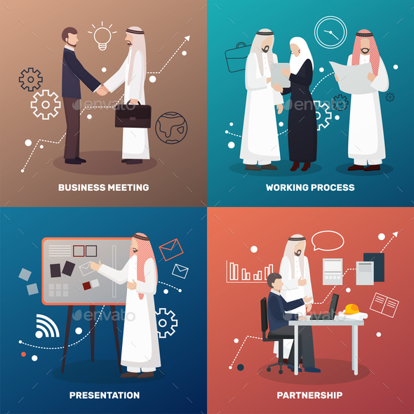 Islamic Partnership Design Concept - Business Conceptual