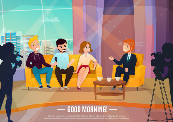 Talk Show Poster - Miscellaneous Vectors