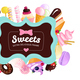 Trendy Sweets Frame Background
