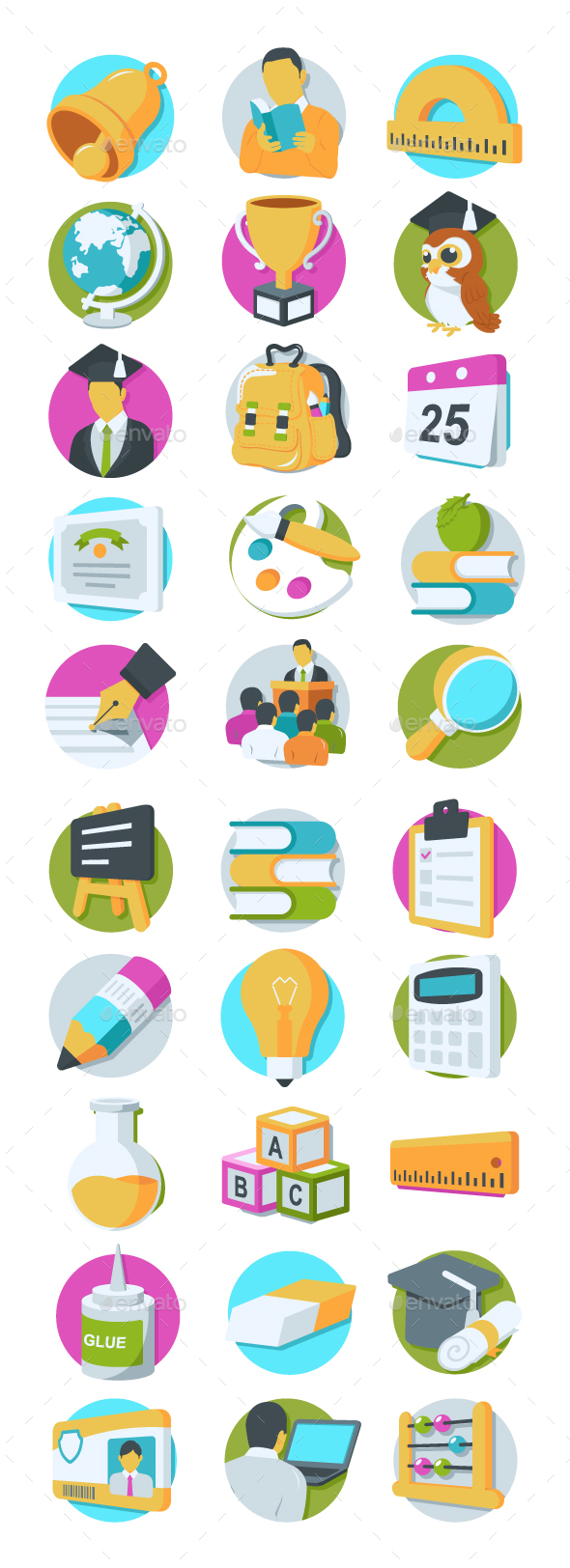 GraphicRiver 36 Education Icons 20750094