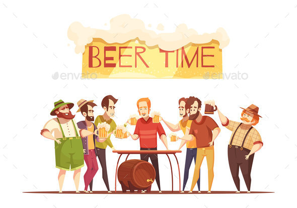 Beer Time Design Concept - Miscellaneous Vectors