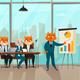 Business Cat Presentation Illustration