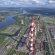 Aerial View of Power Plant Facility on River - VideoHive Item for Sale