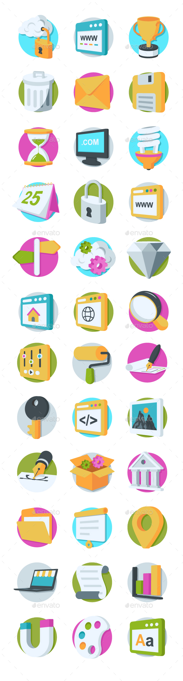 GraphicRiver 36 Web Design and Development Icons 20750262