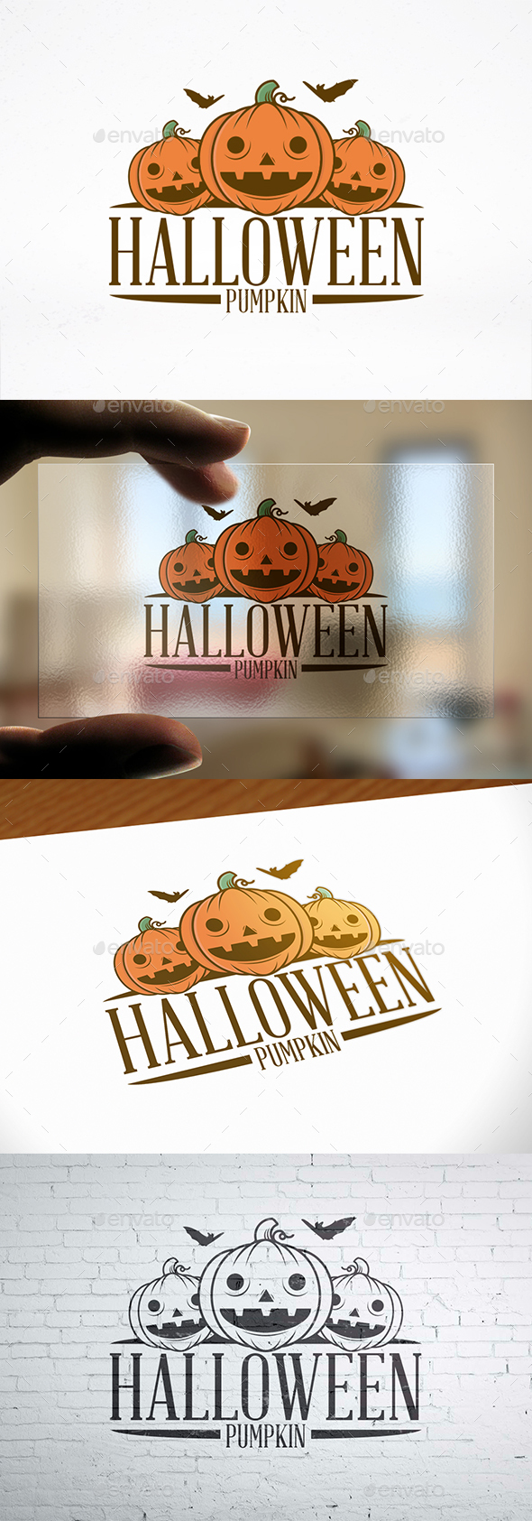 Halloween Pumpkin Illustrative Logo - Objects Logo Templates