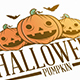 Halloween Pumpkin Illustrative Logo