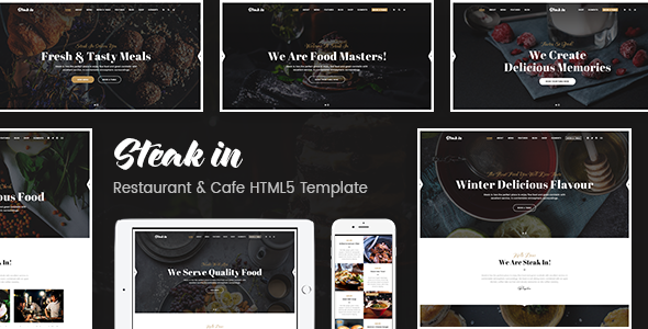Image of Steak In - Restaurant & Cafe HTML5 Template
