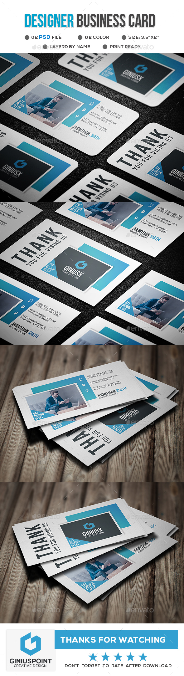 Designer Business Card - Business Cards Print Templates