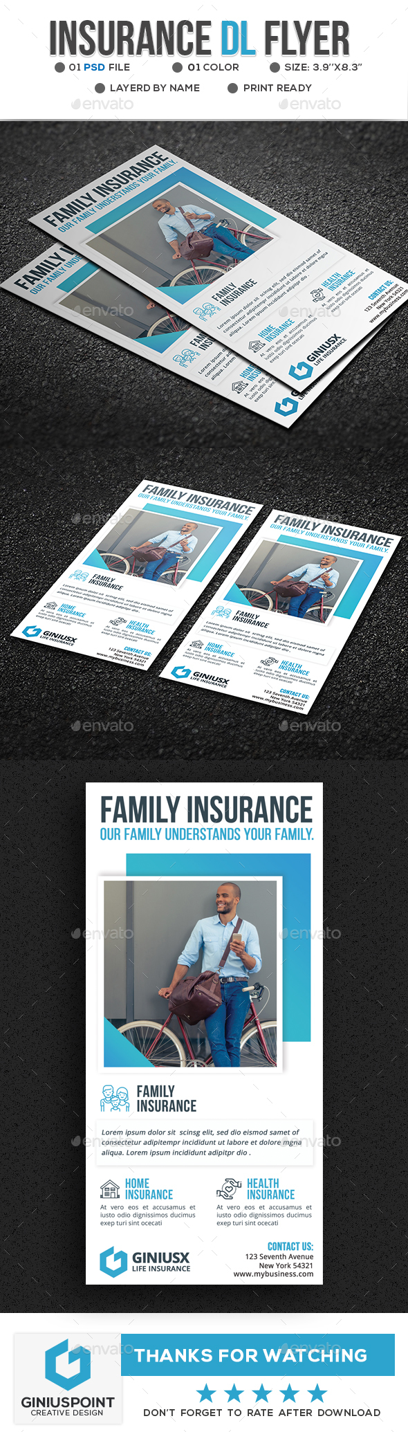 Insurance DL-Flyer - Flyers Print Templates