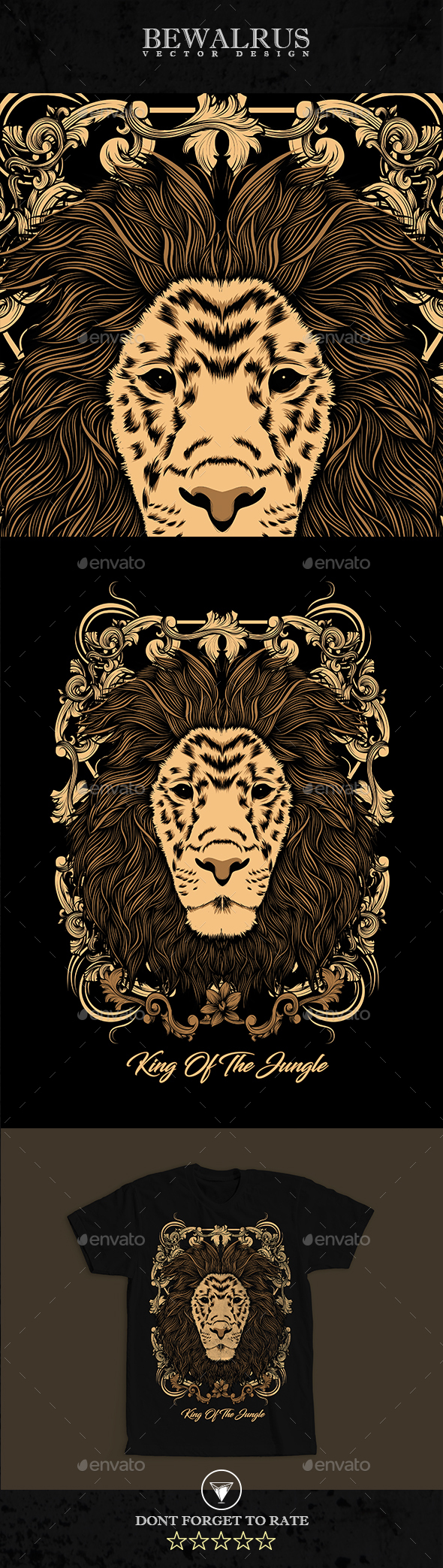 King of Jungle - Designs T-Shirts