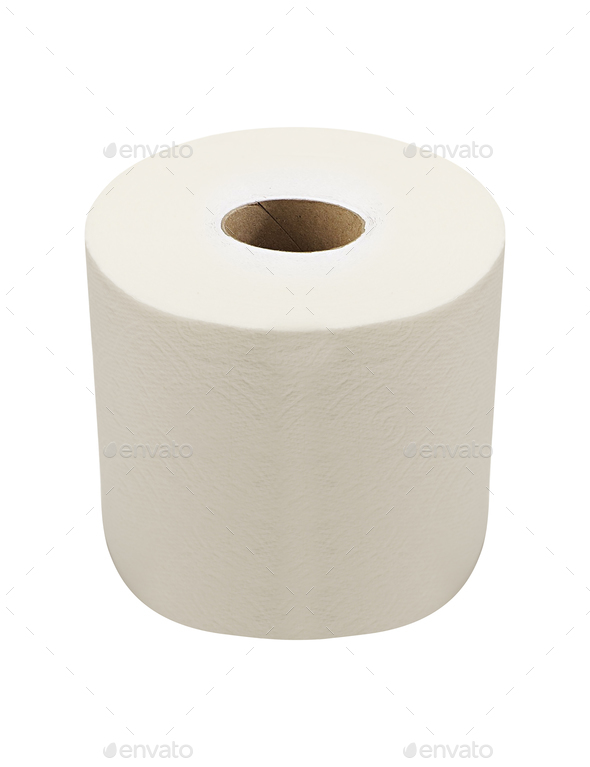 Soft Toilet Paper Isolated - Stock Photo - Images