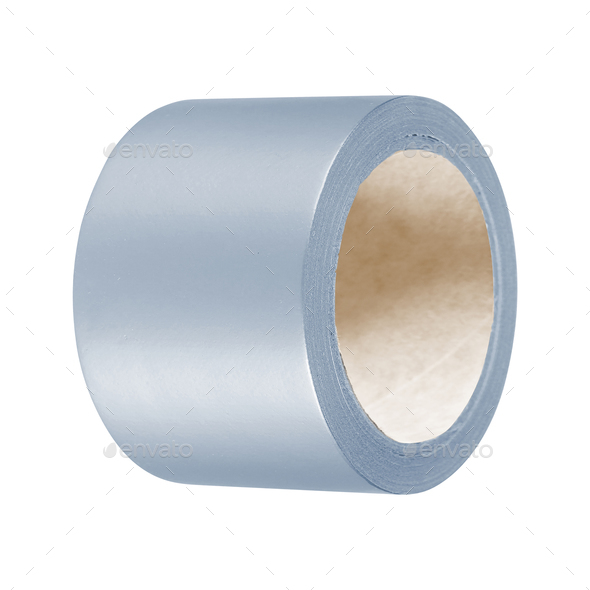 scotch tape on white background - Stock Photo - Images
