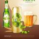 Beer Metal Can Poster