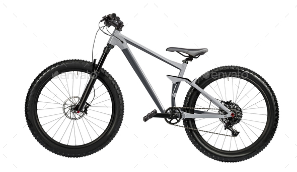 mountain bike isolated - Stock Photo - Images