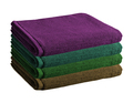 Pile of colored towels isolated