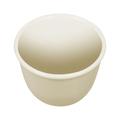 Empty porcelain bowl isolated