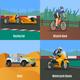 Racing Flat Design Concept