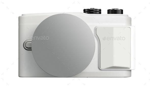 camera isolated on white - Stock Photo - Images