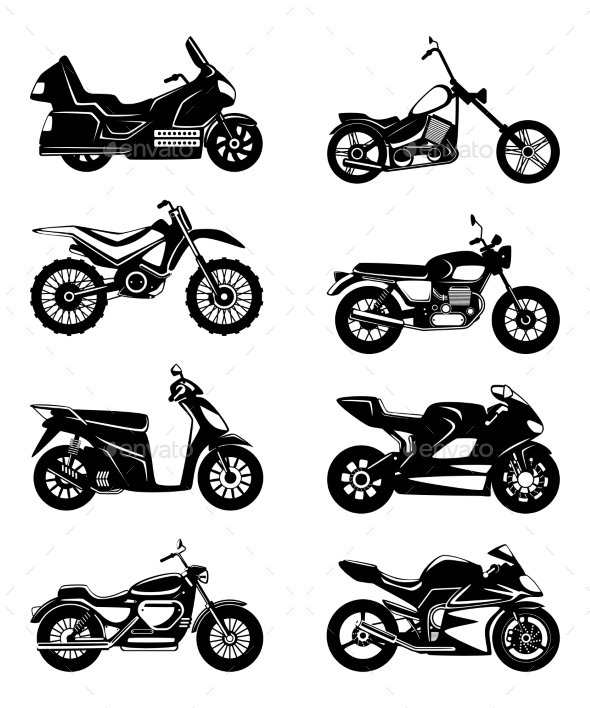 GraphicRiver Silhouette of Motorcycles 20751421