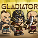 Gladiator 2D Game Character Sprite Sheet - GraphicRiver Item for Sale