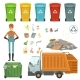 Plastic Containers for Different Trashes
