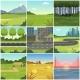 Different Natural Summer Landscapes Set