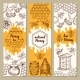 Banners with Honey Product Pictures - GraphicRiver Item for Sale