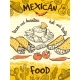 Design Template of Poster with Mexican Food