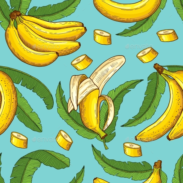 GraphicRiver Seamless Pattern of Bananas 20751700