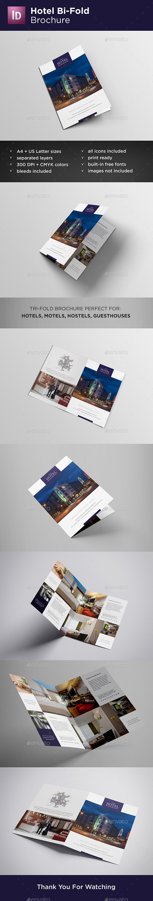 Hotel Bi-Fold Brochure - Catalogs Brochures